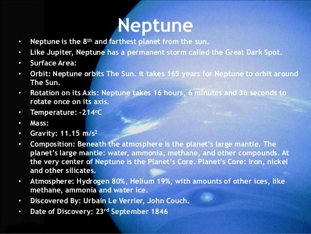 Neptune Surface - Info