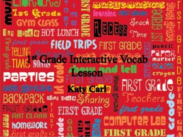 1st grade interactive vocab lesson