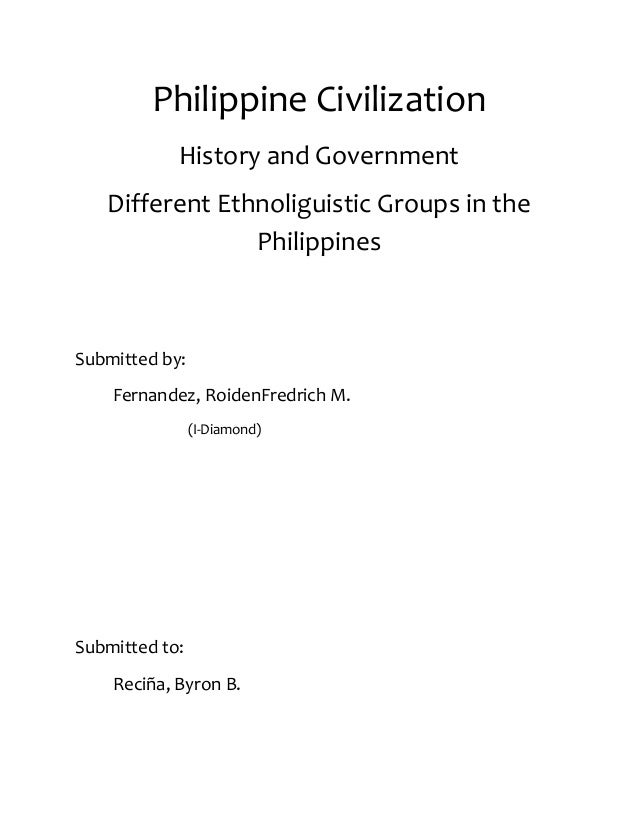 Different Ethnolinguistic Groups in the Philippines