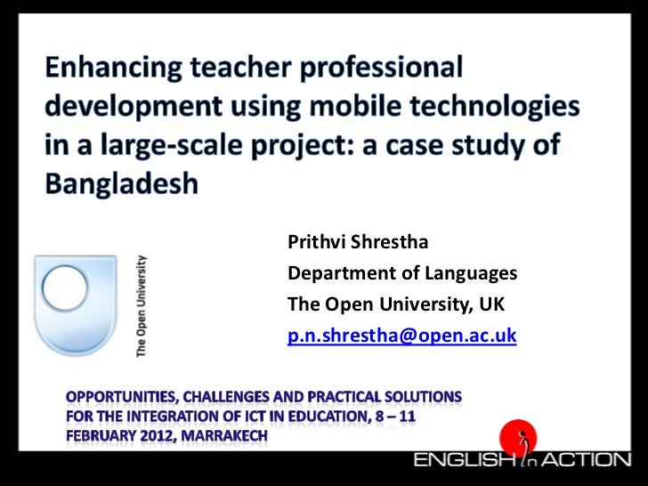 Enhancing teacher professional development using mobile technologies in a large-scale project: a case study of Bangladesh