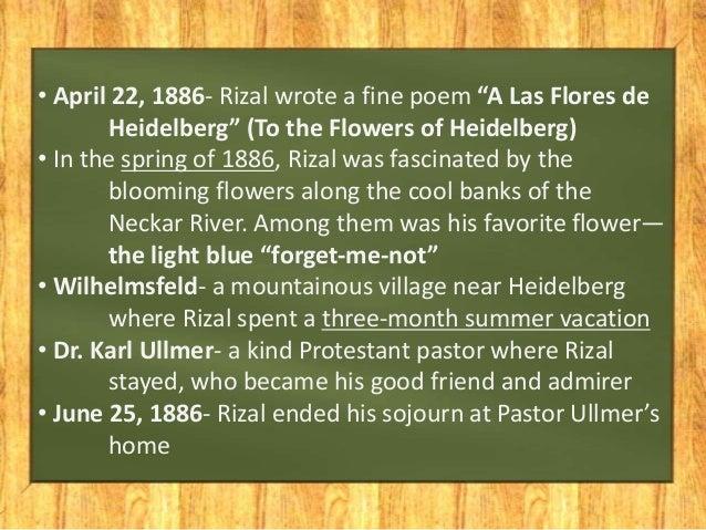 poems of rizal a las flores heidelberg