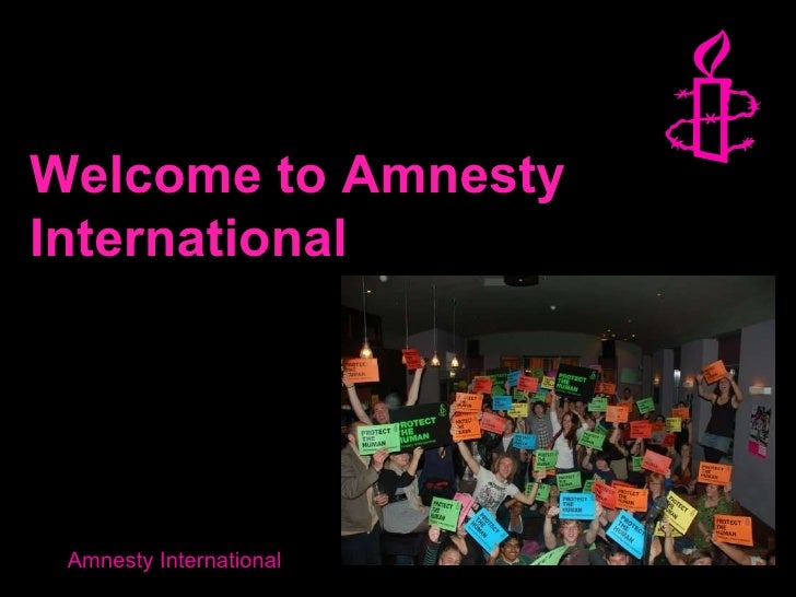 Welcome to Amnesty International