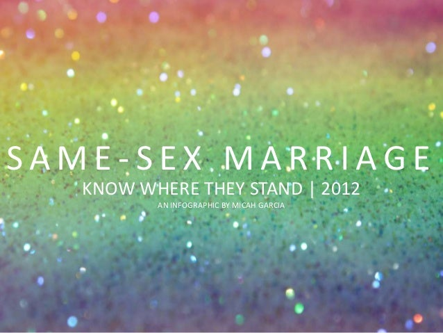 SAME-SEX MARRIAGE   KNOW WHERE THEY STAND | 2012          AN INFOGRAPHIC BY MICAH GARCIA