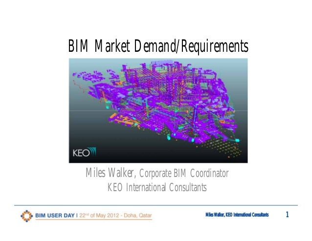 1st Qatar BIM User DAY  Market demand/requirements