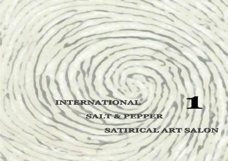1st Salt & Pepper Satirical Art Salon  - Catalogue