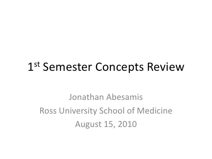 1st Semester Concepts Review