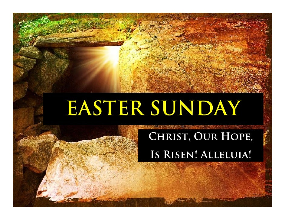 1st Sunday Of Easter   April 6