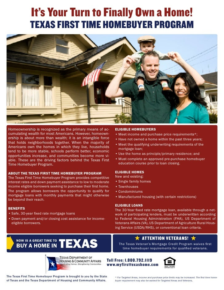 1st Time Homebuyer Flyer