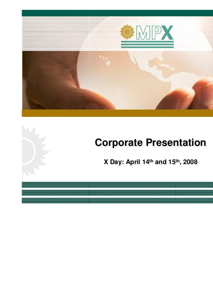 1st x day presentation