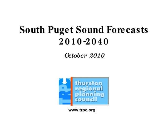 1 swensson south sound science symposium - swensson forecast oct 2010