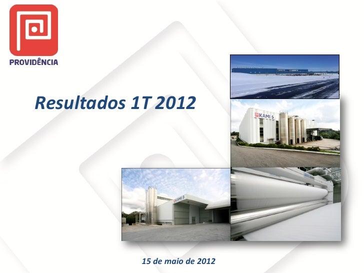 Resultados 1T 2012           15 de maio de 2012