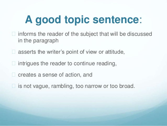 Good topic?