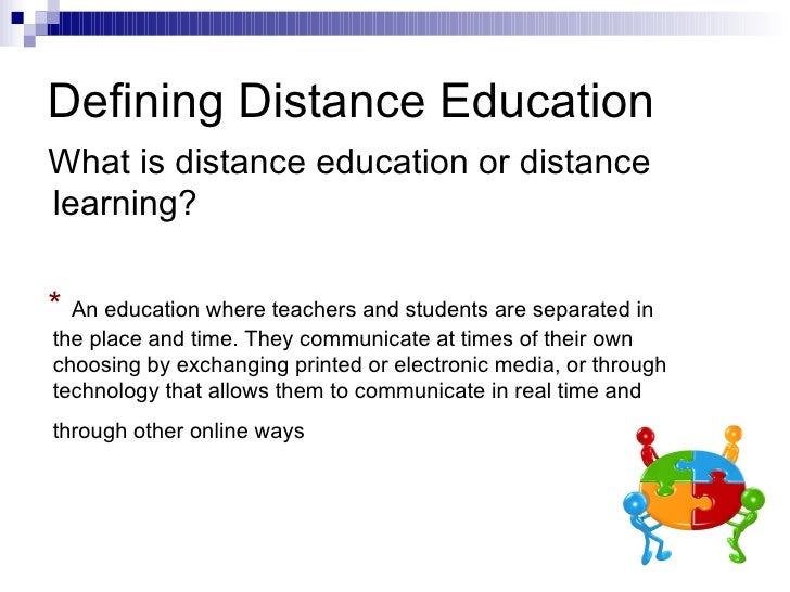 essay on distance education Distance education, or distance learning, is a field of education that depends on the information technology, and instructional systems that plan to provide learning.