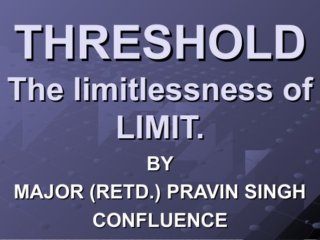 1 threshold