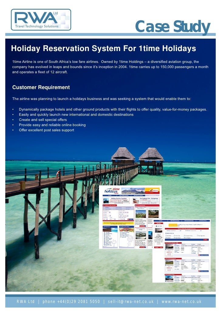 Case Study: Holiday Reservation System For 1time Holidays