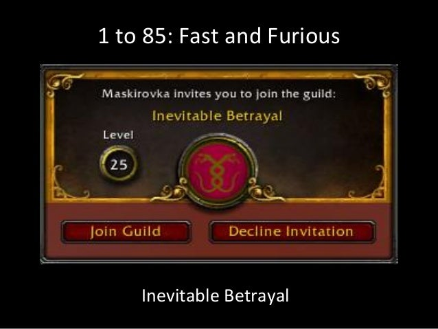 1 to 85: Fast and FuriousInevitable Betrayal