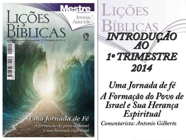 Neste trimestre estudaremos o segundo livro das Sagradas Escrituras, Êxodo.  Nesta primeira lição destacamos a aflição pe...