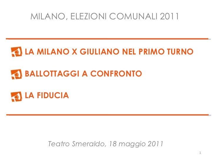 Pisapia-Milano, analisi del voto