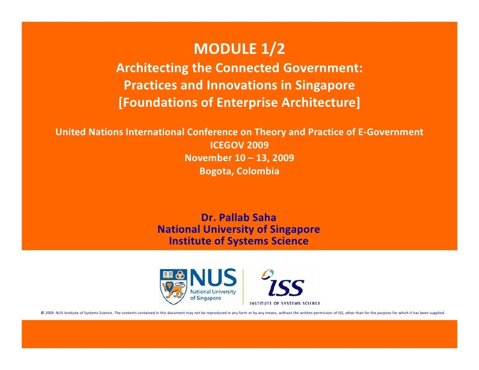 MODULE 1/2                                           Architecting the Connected Government:                               ...
