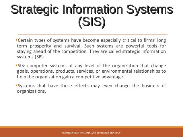 information systems planning Information systems planning (management information system) information management is term that covers array of the systems and processes within an organisation to.