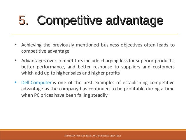 strategies to achieve competitive advantage comparison Mcdonald's franchise strategy  are three different way to sustain a competitive advantage  a very specific set of competitive advantages we try to achieve.