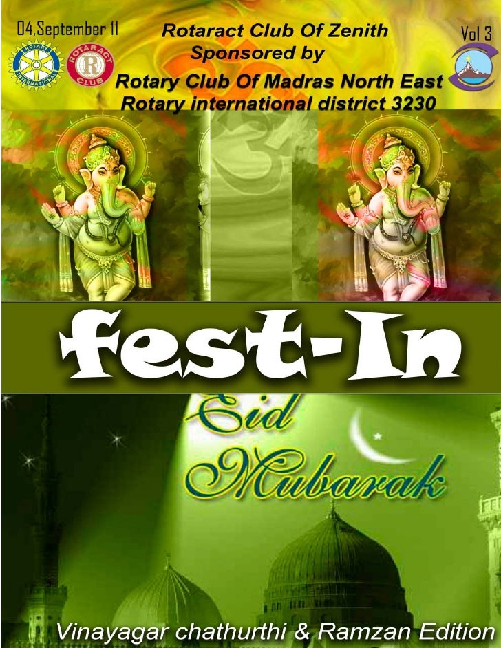 Vinayagar Chaturthi & Ramzan Edition                                             the brightly lit Ganesha. People offer   ...
