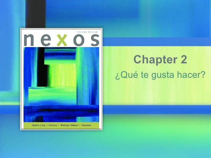 ¿Qué te gusta hacer? Chapter 2
