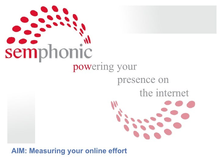 pow ering your  presence on  the internet         AIM: Measuring your online effort