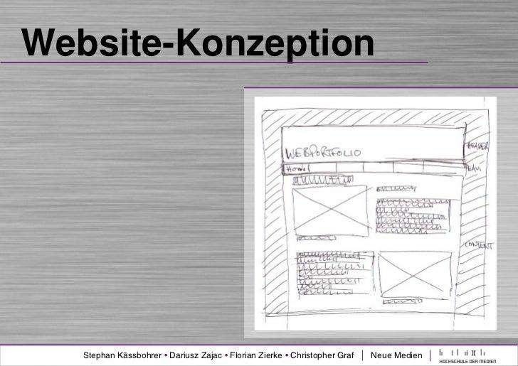 Website-Konzeption   Stephan Kässbohrer • Dariusz Zajac • Florian Zierke • Christopher Graf   Neue Medien