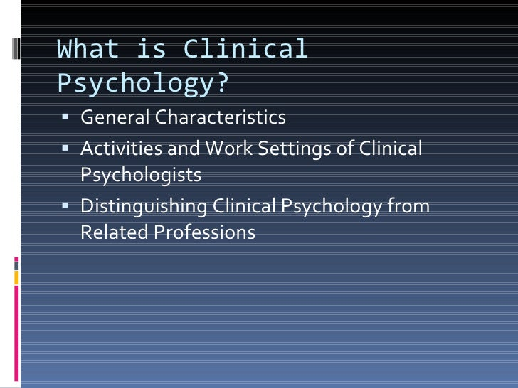 Clinical Psychology international studies usyd
