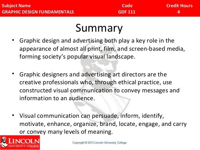 why do we need graphic design   subject name code credit hours graphic design