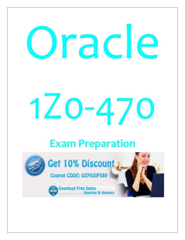 Oracle 1Z0-470 Exam Preparation