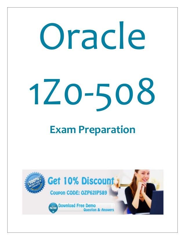 Oracle1Z0-508Exam Preparation