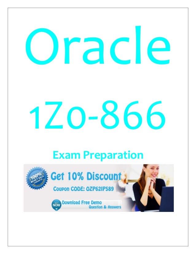 Oracle 1Z0-866 Exam Preparation