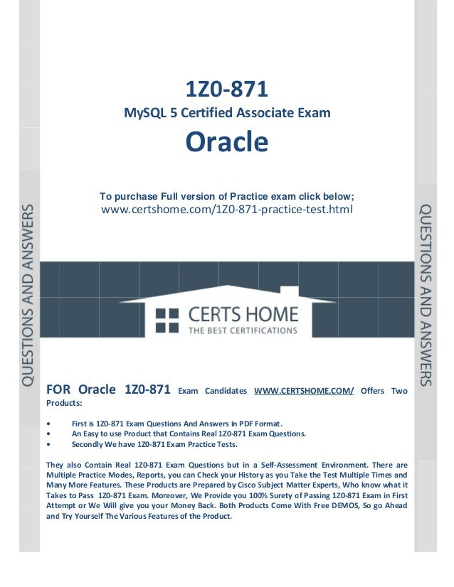 1z0-871 exam - secrets of passing exam in first attempt