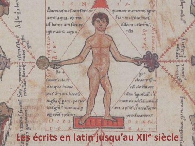 Les écrits en latin jusqu'au XIIe siècle