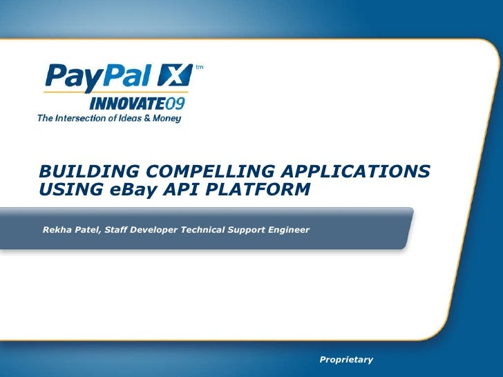 Building Compelling Applications Using eBay API Platform