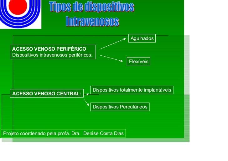 Agulhados      ACESSO VENOSO PERIFÉRICO     Dispositivos intravenosos periféricos:                                        ...