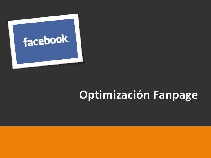 Optimización Fanpage