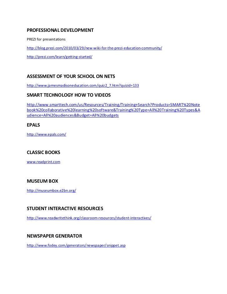 PROFESSIONAL DEVELOPMENTPREZI for presentationshttp://blog.prezi.com/2010/03/29/new-wiki-for-the-prezi-education-community...