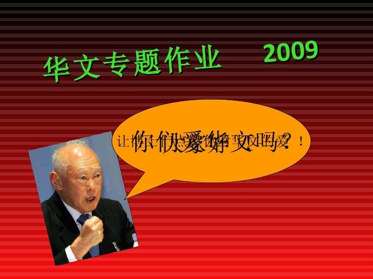华文专题作业