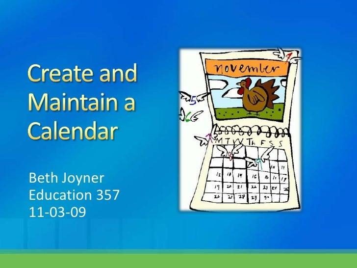 2.1.6 Calendars Beth Joyner[1]