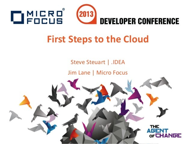 First Steps to the CloudSteve Steuart | .IDEAJim Lane | Micro Focus