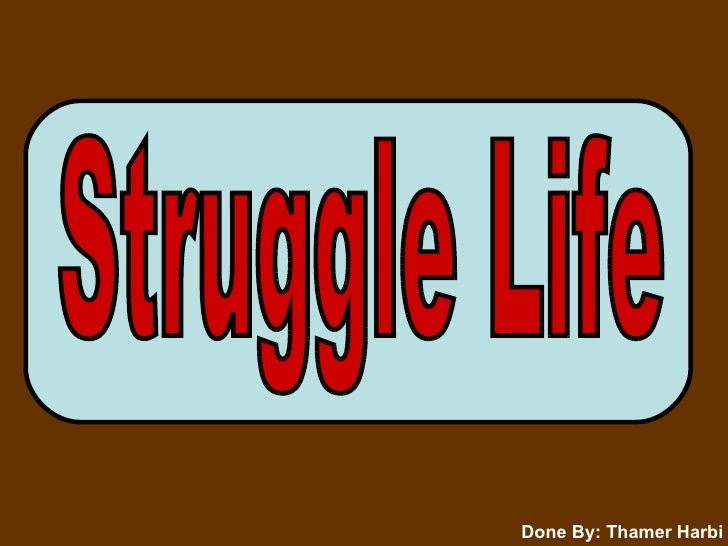 Struggle Life Done By: Thamer Harbi