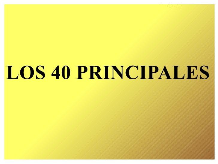 LOS 40 PRINCIPALES