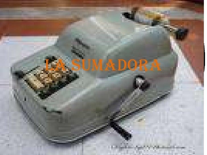 La sumadora<br />