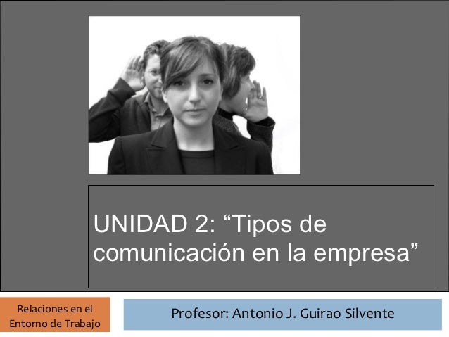 Unidad 2 RET: Tipos de comunicación en la empresa