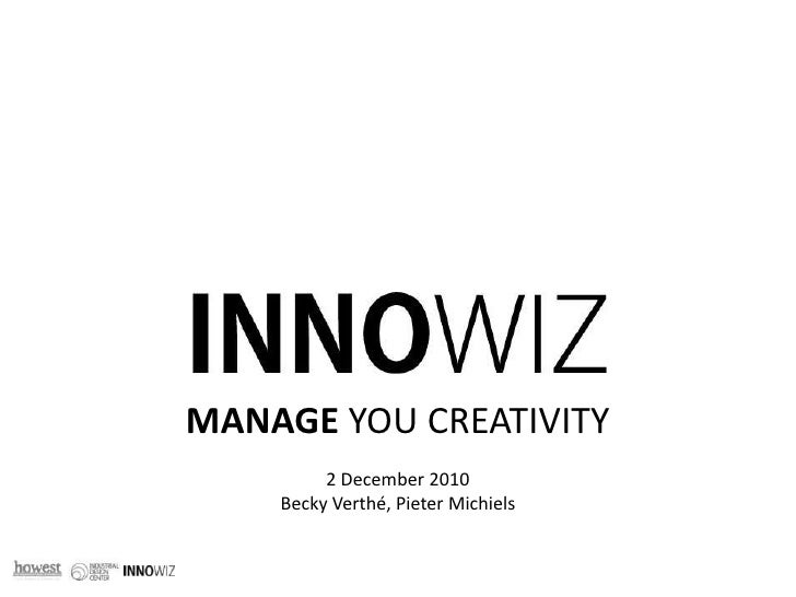 INNOWIZ Creativity tools - presentation for Digital Arts & Entertainment students at Howest University, Belgium