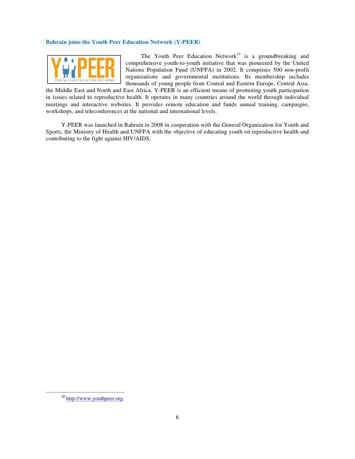 Youth Development in the ESCWA Region: Statistical Profiles, Nation�