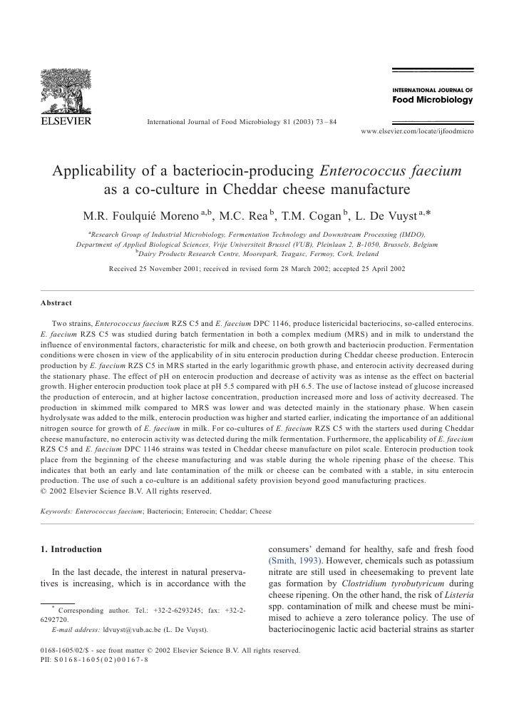International Journal of Food Microbiology 81 (2003) 73 – 84                                                              ...